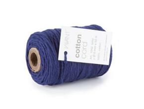 Cotton Cord / Katoen touw 50 meter donkerblauw ø2mm