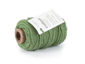 Cotton Cord / Katoen touw 50 meter donkergroen ø2mm