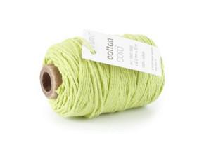 Cotton Cord / Katoen touw 50 meter groen ø2mm