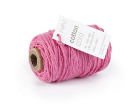 Cotton Cord / Katoen touw 50 meter hard roze ø2mm
