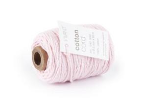 Cotton Cord / Katoen touw 50 meter licht roze ø2mm