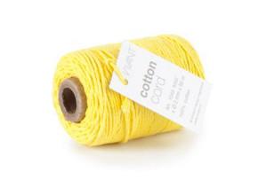 Cotton Cord / Katoen touw 50 meter mosterd geel ø2mm