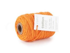 Cotton Cord / Katoen touw 50 meter oranje ø2mm