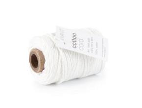 Cotton Cord / Katoen touw 50 meter wit ø2mm