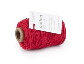 Cotton Cord / Katoen touw 50 meter rood ø2mm