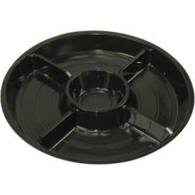 Bord fondue 5-vak 8-hoek zwart 50 stuks