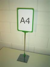 Prijskaartraam A4 verstelbaar groen compleet