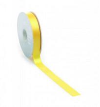 Satijnlint PREMIUM Double face 25mm x 25 meter geel