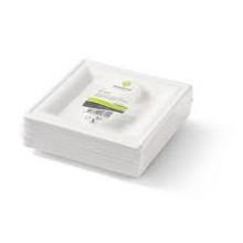 Bord Biodore® van Suikerrietpulp 160x160mm wit 50 stuks