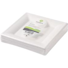Biodore® Bord van Suikerrietpulp 260x260mm wit 50 stuks