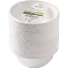 Biodore® Schaal van Suikerrietpulp ø135mm 350ml wit 50 stuks