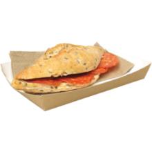 Sandwichbak karton 160x100x24mm bruin 100 stuks
