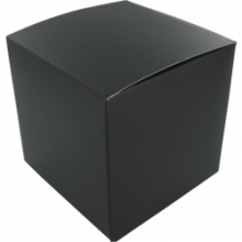 Kadobox zwart 10x10x10cm 25 stuks