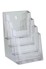 Folderbak acry A5 staand 4-vaks