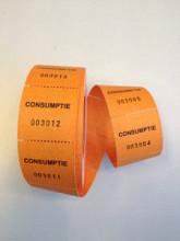 Consumptie bonnen oranje 500 stuks