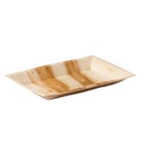 Biodore® Bord palmblad rechthoekig 25x16cm 25 stuks