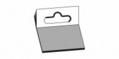 Hang tabs /  hang ups  50x50mm kleeflaag 50x28mm 100 stuks