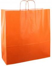 Papieren koordtas 45x17x47cm 50st oranje