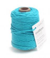 Cotton Cord / Katoen touw 50 meter turquoise ø2mm