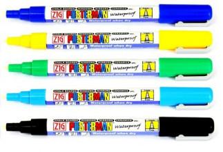 Krijtstift posterman PMA-20 smalle punt 1mm donkerblauw