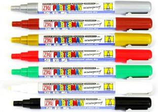 Krijtstift posterman PMA-20 smalle punt 1mm bruin