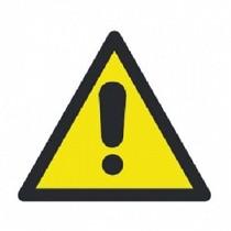 Apli sticker 10434 pictogram 114x114mm gevaar