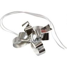 Trekstrik/ snelstrik 19mm  metallic ZILVER 100 stuks diameter 10cm