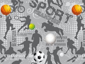 Cadeaupapier 50cm dessin Sport