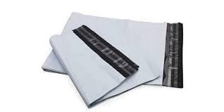 Kleding verzendzak 350x450+50mm klep 50micron 500 st. zwart/wit
