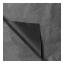 Zijdevloei papier 50x75cm 22gr 100 vel Zwart