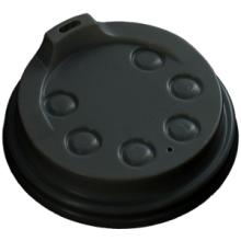 Deksel met drinkgat voor hot cup 250cc diameter 80mm zwart 50 stuks