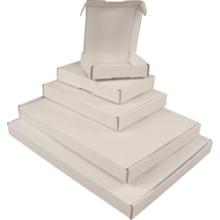 Brievenbusdoos met klep 110x110x28mm wit