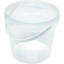 PP cups met sluitzegel deksel met hengsel 1000ml transparant 192 stuks