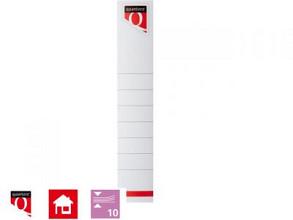 Rugetiket Quantore 34x190 Zelfklevend Smal Wit