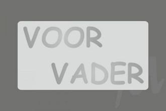 Etiket / Sticker Zilver 'Voor Vader' 500 stuks