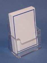 Folderbak acryl A6 transparant staand 110x128x40mm
