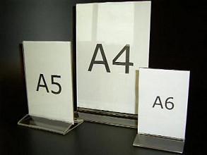 Menustandaard A6 acryl 10x15cm