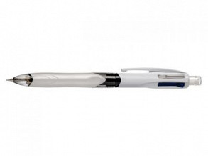 Balpen Bic 3kleuren met vulpotlood HB 0.7mm in blister