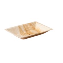 Biodore® Bord, rechthoekig, 1-vaks, Palmblad, 17x12cm 25