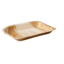 Biodore® Bord, rechthoekig, 1-vaks, Palmblad, 24x16cm 25 stuks