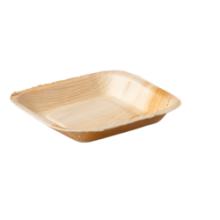 Biodore® Bord, vierkant, 1-vaks, Palmblad, 17x17cm 25 stuks