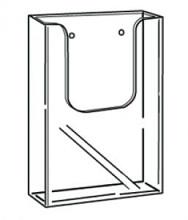 Folderbak acryl 1/3 A4 transparant wand