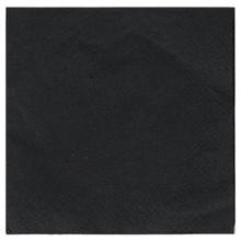 Servetten 33x33cm 2 laags 100 stuks zwart