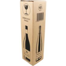 Wijnfles verzenddoos DD 1 fles, 108x108x368mm