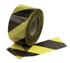 Afzetlint in dispencer 500 meter Geel / zwart