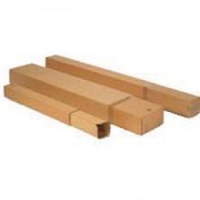 Kartonnen verzendkoker vierkant 250x250x1200mm bruin per stuk