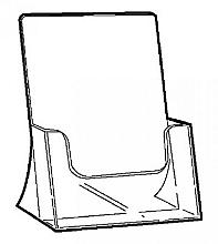 Folderbak  A5 transparant staand 148x210mm
