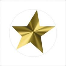 Etiket / Sticker ster transparant - goud 500 stuks