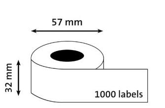 Etiket Dymo 11354 BUDGET labelwriter 57x32mm 1000 stuks