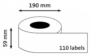 Etiket Dymo 99019 BUDGET labelwriter 59x190mm 110 stuks  ordner breed